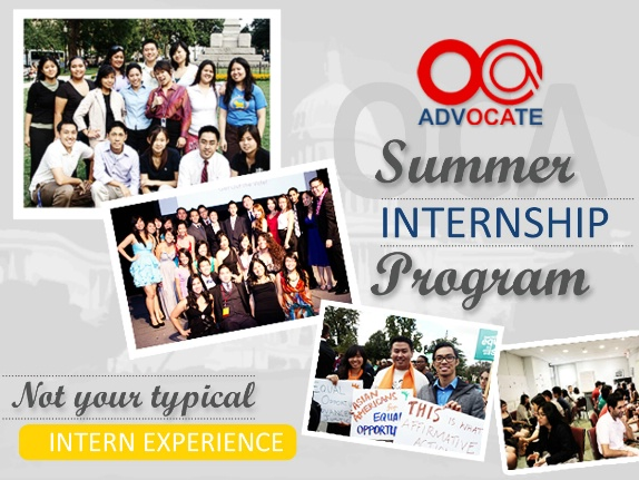 Celebrating its 26th year (2015), the OCA Internship Program seeks to cultivate future leadership by providing students from all over the country with the opportunity to be involved in the political process through a national organization. The program has successfully led past interns to become more active on their college campus and increased the presence of the APA community in local, state, and federal governments